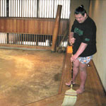 稽古場の掃除